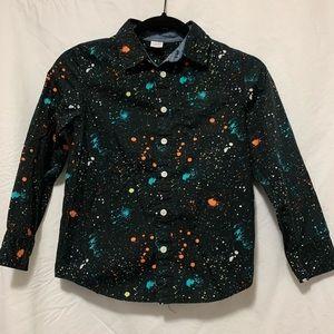 NWOT paint-splatter look dress shirt.
